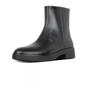 Mari Safferano Ankle leather Boot Black