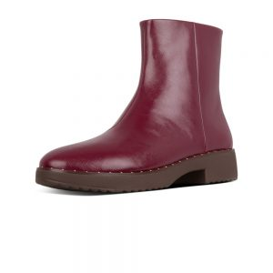 Mari Safferano Ankle leather Boot Lingonberry