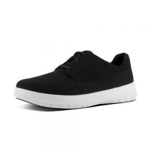 Sporty-Pop Black Canvas Sneaker