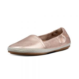 SIREN LEATHER ESPADRILLES ROSE GOLD