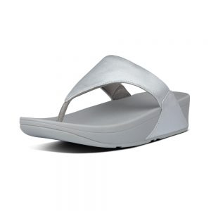 FitFlop Lulu Leather Silver