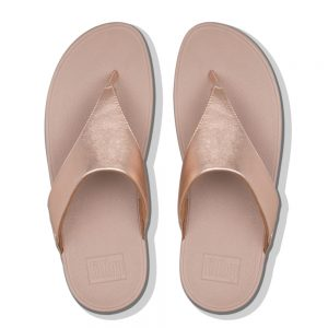 FitFlop Lulu Leather Rose Gold