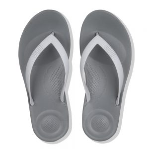 FitFlop iQushion Ergonomic Flip Flop Charcoal grey mix
