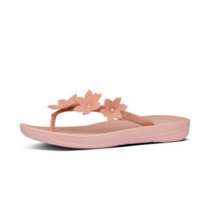 iQushion Ergonomic Flip Flop Floral Dusky Pink