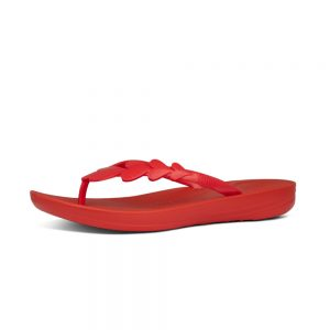 FitFlop iQushion Ergonomic Flip Flop Valentine Red