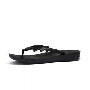 FitFlop iQushion Ergonomic Flip Flop Valentine Black