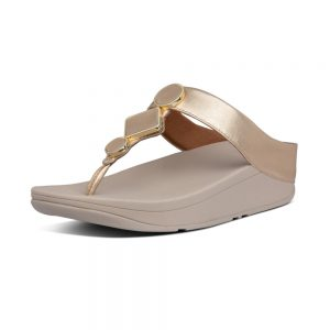 FitFlop LEIA LEATHER VINTAGE GOLD