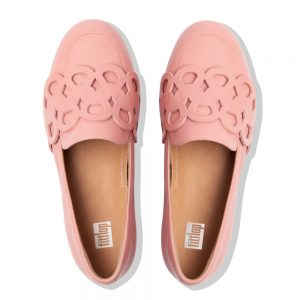 Lena Leather Entwined Loop Loafer ROSE PINK