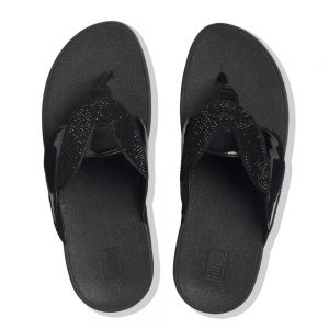 FitFlop Paisley Glitter Rope All Black