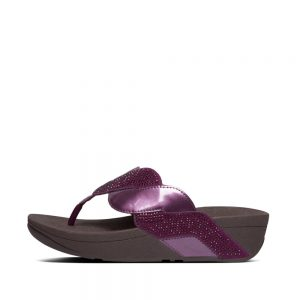 FitFlop Paisley Glitter Rope Beetroot