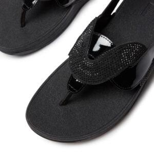 FitFlop Paisley Glitter Sandal All Black