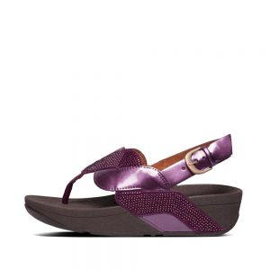PAISLEY GLITTER ROPE SANDAL BEETROOT