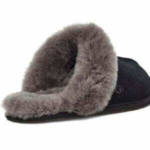 UGG Scuffette II Black Grey Slippers