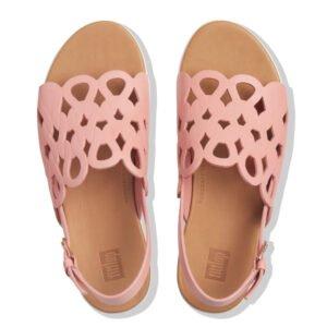Elodie Entwined Loops Rose Pink Sandals