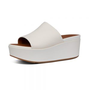 Eloise Leather Slide Wedges Stn
