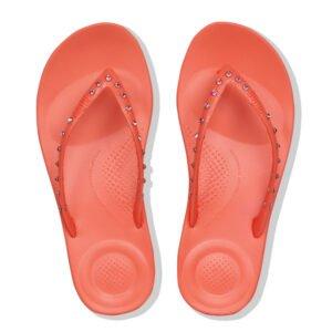 FitFlop iQushion Ergonomic Crystal Sunshine Coral flip flop