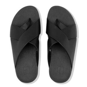 FitFlop Mocca Novaweave toe post All Black
