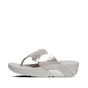FitFlop Paisley Glitter Rope Silver
