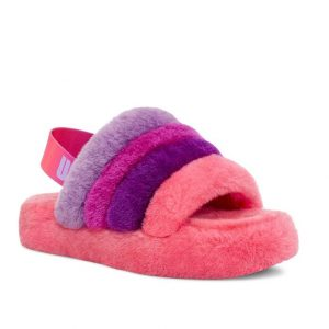 UGG Fluff Yeah Slide Purple Pink Kids