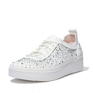 Rally Ombre Crystal Knit Urban White