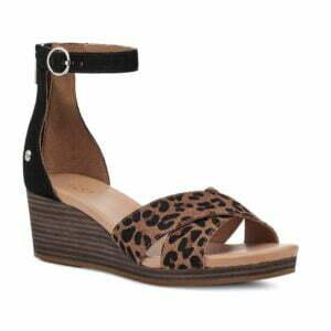 UGG Eugenia Leopard Black Tan Sandal