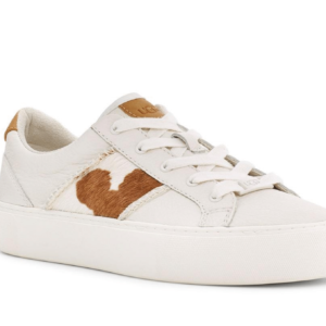 UGG Dinale Cow Print Coconut Milk Leather sneaker