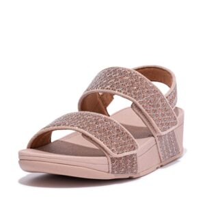 FitFlop Mina Glitter Weave Back Strap sandal Rose Gold