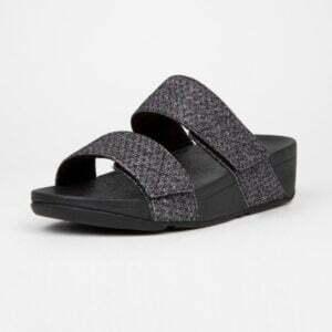 FitFlop Mina Glitter Weave Slides Black