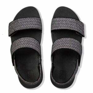 FitFlop Mina Glitter Weave Back Strap sandal Black